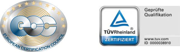 EUROPEAN CERTIFICATION COUNCIL - TÜV Rheinland Zertifiziert